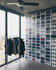 coryjkingman - it's good to be back home thecontainerstore@coryjking Serious kick collection! Men's Drop Front Shoe Box, SKU# 10048827 on our site!