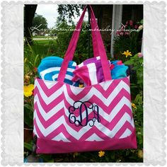 #duffle #Monogrammed #beachlife #beachday #beachtote Kay Kreations Embroidery Designs  Kaykreations.2012@gmail.com   If it is not glued down...MONOGRAM IT by Kay Kreations!!   Locally owned and operated that specializes in Monogramming, Embroidery and Applique Designs on clothing, totes, bags, purses, and misc types of fabrics.  If you need anything else that I do not show please send me a message or have questions please contact me.