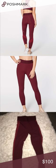 Lululemon Box It Out Tight Deep Rouge Sz 4 Lululemon Box It Out Tight Color: Deep Rouge Size: 4 Worn once, excellent condition! Completely sold out online. lululemon athletica Pants Leggings
