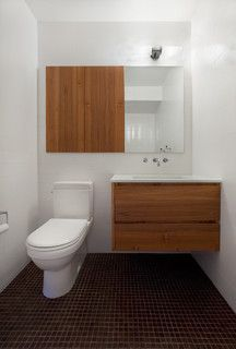 small toilet & sink space