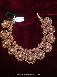 Antique Necklace, Antique Jewelry, Antique Gold, Ruby Necklace Designs, Gold Jewellery Design, Gold Jewelry, Fine Jewelry, Jewelry Making, Jewelry Patterns
