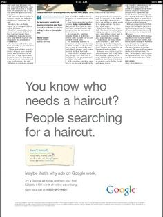 Google Buys Newspaper Ad to Show Why Newspaper Ads Don't Work