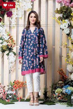 Ethnic Leaf Printed Shirt Pret 2017 Whatsapp: 00923452355358 Website: www. Women's Fashion Dresses, Casual Dresses, Girl Fashion, Short Dresses, Girls Dresses, Summer Dresses, Pakistani Designer Suits, Pakistani Suits, Pakistani Dresses