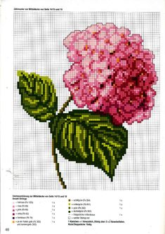 This Pin was discovered by pel Tiny Cross Stitch, Easy Cross Stitch Patterns, Cross Stitch Heart, Simple Cross Stitch, Cross Stitch Flowers, Cross Stitch Designs, Cross Stitching, Cross Stitch Embroidery, Hortensia Rose