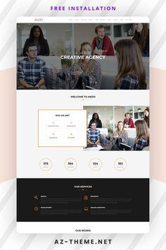 Wordpress Landing Page, Wordpress Website Design, Themes Themes, Best Web Design, Website Design Inspiration, Design Development, Wordpress Theme, Branding Design, Brand Design