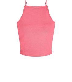 01bc4b9623794f Teens Bright Pink High Neck Cami