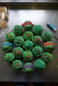 Ninja Turtle cupcakes for the win!