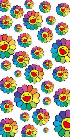 Retro Wallpaper Iphone, Hippie Wallpaper, Iphone Wallpaper Tumblr Aesthetic, Iphone Background Wallpaper, Of Wallpaper, Aesthetic Wallpapers, Murakami Flower, Indie, Hippie Painting