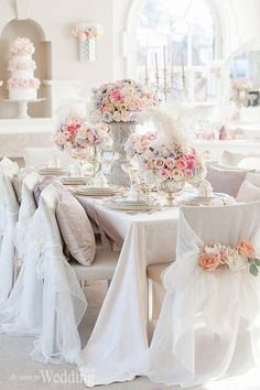 Krista Fox Photography | Florist, Producer, Concept Creator & Stylist: Paige Lewis Events | Linens & Chair Capes: Have A Seat Inc. | Tableware: William Ashley China