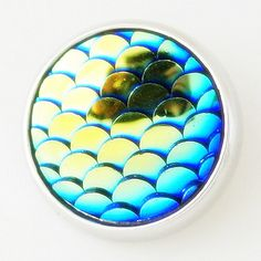 Blue AB Mermaid Scales Metal Button Bead Noosa Snap On Charm Chunk 20m – Your Charmed Story