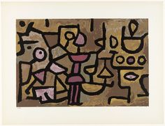 I got a postcard of this Paul Klee from a great aunt when I was a child. It started my postcard collection and my love of art.