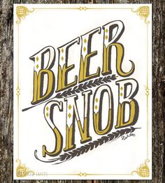 Beer Snob Art Print | Sarah Watts
