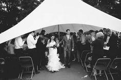 Tented wedding ceremony outside of Gravenhof Castle Wedding in Dworp, Belgium