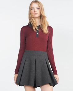 Image 2 of MINI SKIRT WITH FLOUNCE from Zara