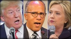 TRUMP DECLARES DEBATE 'RIGGED' DUE TO ANTAGONISTIC MODERATOR LESTER HOLT
