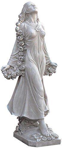 Design Toscano KY47018 Flora Divine Patroness of Gardens Statue in Faux Stone Design Toscano http://www.amazon.com/dp/B002ZPH1XM/ref=cm_sw_r_pi_dp_RfJyvb0TMZDKY