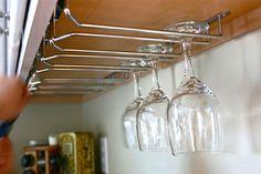 wine glass holder installation