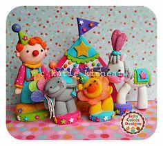 Springtime Circus Birthday Cake Topper Set by jellycakesdesigns, $16.00