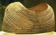 Mold Gold Cape is the finest piece of prehistoric gold-working in Europe The Mold Cape is a 3,700-year-old solid gold artefact found in the 19th century within a Bronze Age burial mound at Mold, in Flintshire, Wales. The Bronze Age burial mound was found in a field named Bryn yr Ellyllon ('Fairies' Hill') by workmen in 1833. ~Ancient or Unique Artefacts~