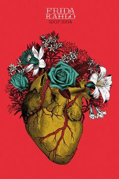 Poster tribute to Frida Kahlo by Erendida Mancilla. Derechos reservados. 2013 Más