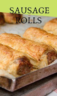 Our Sausage Roll Recipe Is Super Easy And Incredibly Yummy ; unser wurstbrötchen-rezept ist super einfach und unglaublich lecker Our Sausage Roll Recipe Is Super Easy And Incredibly Yummy ; Brunch Recipes, Appetizer Recipes, Appetizers, Sausage Recipes For Dinner, Recipe For Sausage Rolls, Brunch Ideas, Thermomix Sausage Rolls, Savoury Puff Pastry Recipes, Easy Sausage Roll Recipe