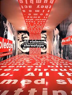 Im partial to conceptual but warming up- Jenny Holzer Barbara Kruger Art, Jenny Holzer, Environmental Graphics, Environmental Design, Web Design, Feminist Art, Exhibition Space, Conceptual Art, Magazine Design