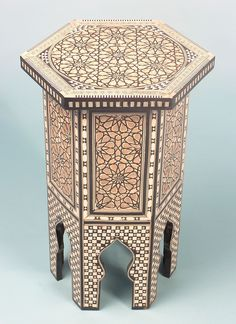 Hexagonal Table with Mother of Pearl
