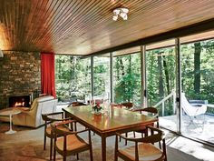STATS 5 BEDROOMS 3 BATHS 3,200 SQ. FT. $995,000Pedigree: California modernist Richard Neutra created only a small number of East Coast homes, and this midcentury example blends nicely into its forested plot on Philadelphia's Main Line. The low-slung structure's expansive windows merge indoors and out, most noticeably in the living room, where two glass walls join at a mitered corner, affording sylvan views. Stone fireplaces and cedar ceilings further gesture to the surrounding landscape.