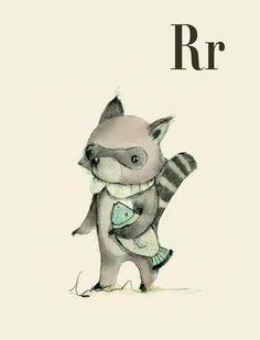Raccoon illustration from milenuts