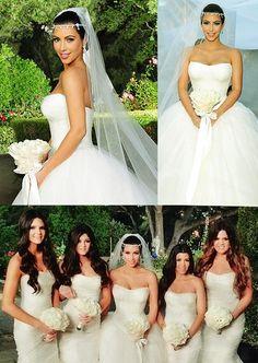Kim Kardashian's Wedding Dress by Vera Wang — plus Kate Moss's Bridal Party Wedding Gallery, Wedding Pics, Wedding Styles, Dream Wedding, Wedding Ideas, 2015 Wedding Dresses, Wedding Gowns, Wedding Ceremony, Bridesmaid Dresses
