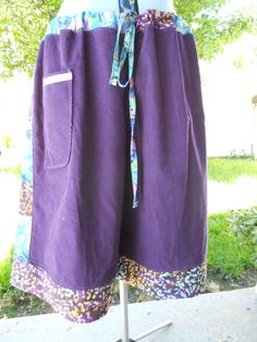 Purple Corduroy & Batiks Hippie Patchwork Wide by attickpatchwork, $56.00