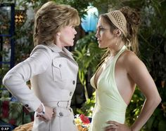 Head-to-head: Women and their mothers-in-law (like Jennifer Lopez and Jane Fonda in Monster In Law, pictured) have an innately tense relatio...