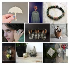 """""""C H A T . m a o w"""" by westernartglass ❤ liked on Polyvore featuring art and etsyfresh"""