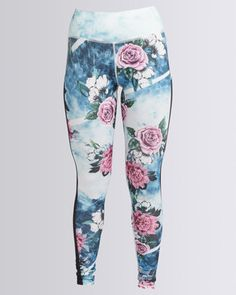 You can now look as great as you feel in these Blue Girl Yoga Leggings by Fifth Element. Boasting a wide elasticated band for extra support and comfort, these tights will have you raring to workout on the daily. They are ideal for any workout session, whether yoga, cardio, pilates or running a few kilometers.Features:Wide elasticated bandFloral printingCompressed fit4-way stretch
