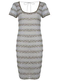 90's Beaded Midi Dress