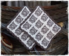 Ravelry: Fiskestim og Ugleapper pattern by Jorunn Jakobsen Pedersen Knitting Stitches, Knitting Patterns, Knitting Charts, Pot Holders, Ravelry, Presents, Textiles, Crochet, How To Make