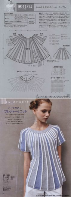 Blouse partial knitting