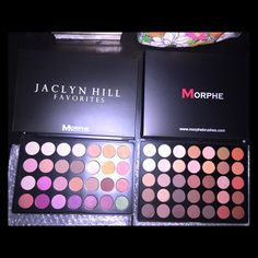 ✨MORPHE✨ Jaclyn Hill & 35O Pallete BRAND NEW IN BOX.  Both are SOLD OUT on the website.  Jaclyn Hill is a limited edition and it is discontinued!  They will be packed and secured to make sure it arrives to you safely (: Same day or next day shipping.  Please keep rude comments to yourself.  Otherwise, you will be reported and blocked.  Price is firm and will NOT separate. MORPHE Makeup Eyeshadow