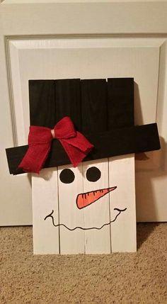 Snowman pallet craft