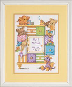 Baby Drawers Birth Record - Cross Stitch Kit