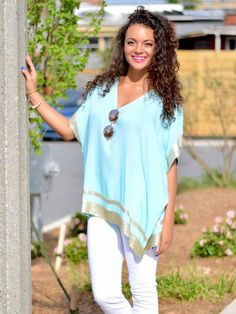 Paradise Top in Turquoise - $38.99 : FashionCupcake, Designer Clothing, Accessories, and Gifts