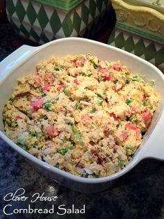 Clover House: Cornbread Salad Recipes to Cook Cornbread Salad Recipes, Southern Cornbread Salad, Savory Salads, Southern Recipes, Soup And Salad, Pasta Salad, Family Meals, Entrees, Dinner Recipes