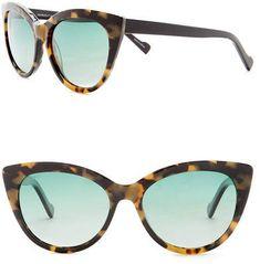 e3b6e3bfb5d William Rast Women s 55mm Polarized Cat Eye Sunglasses