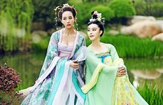 Janine Chang & Fan Bingbing in 'The Empress of China' (2014).