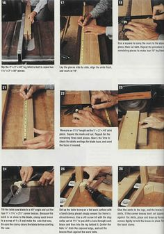 furniture plans step by step