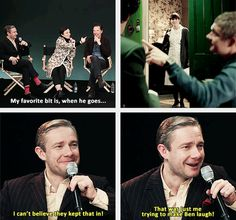 Ben and Martin talking about the drunk scenes
