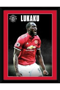 Manchester United Lukaku Stand 17 18 Collector Print Manchester United  Football 4a07ed845