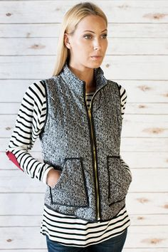 Marled Pocket Vest – Sweater Weather Co.