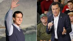 File: Republican presidential candidates Rick Santorum and Mitt Romney (AP/FNC) Presidential Candidates, Swing State, Super Tuesday, Mississippi, Alabama, Fox, Politics, News