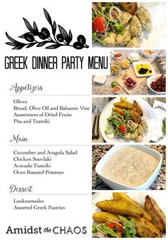 Greek inspired dinner party part 1 greek dinners and for Table 6 brunch menu